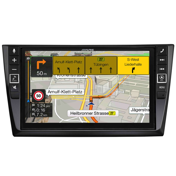 "Alpine X902D-G6 9"" Touch Screen Navigation for Volkswagen Golf 6 with  TomTom maps, compatible with Apple CarPlay and Android Auto"