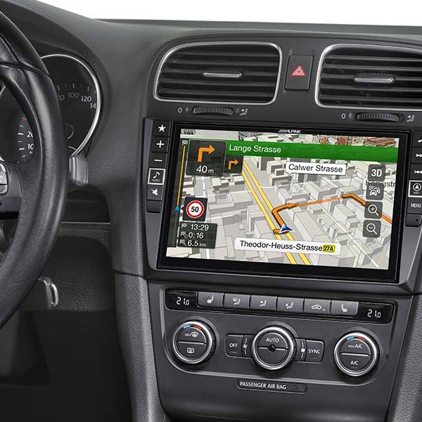 """Alpine X902D-G6 9"""" Touch Screen Navigation for Volkswagen Golf 6 with  TomTom maps, compatible with Apple CarPlay and Android Auto"""